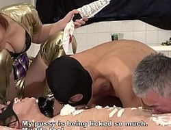 Japanese Female domination Maria Food with an increment of Messy
