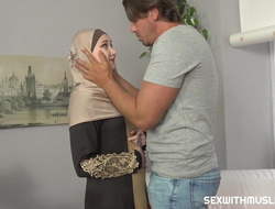 A Muslim cleaning lady was grimaced be expeditious for geezer to authoritative the job