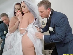 Anxious stud fucks his daughter-in-law at the wedding