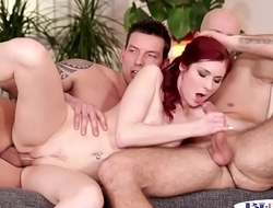 Assfucking bi hunks spitroasted redhead babe