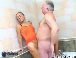 Lustful girl is fucking an elderly man she's in love with