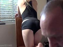 Smoking Blonde Wants Cum on her ass HD