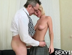 Aged teacher is taking advantage of innocent girl