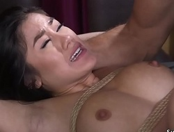 Asian whipped and anal fucked regarding s&m