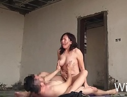 Wifesz, unskilled spliced fucked outdoor here empty building creampie