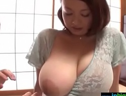 Busty japanese cheating wife groped increased by drilled hard - what?s say no to name?