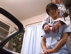 Japanese Voyeur Footage of Clumsy Nurses Mains closet for Their Mistakes to a Dominant Water down 1 [upload king]
