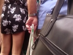Touch and identity card milf on bus