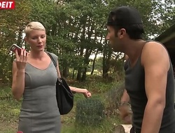 LETSDOEIT - Mature French Blonde Gets Ass Drilled By a Stranger Outdoor