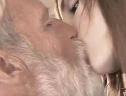 Old Youthful - Big Blarney Grandpa Fucked by Legal age teenager she licks thick old man penis