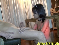 Small tittie thai ungentlemanly jiggered to botty
