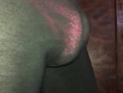 Pink thong in leggings