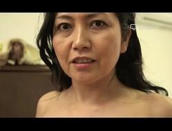 Happy Domicile - Japanese Granny Azusa Mayumi Undresses in The brush Home