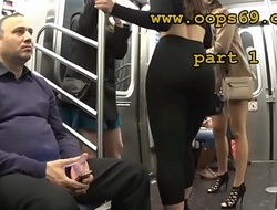 Groping her brim-full with train