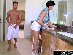 Grown-up Stepmom Shay Fox Helps Her Stepson To Get Bodily Comfort