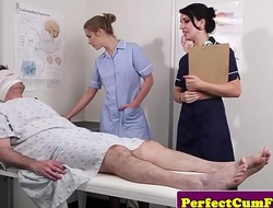 Cock tender nurses get facialized