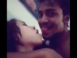 Assamese Hindu piece of baggage hot kiss coupled with foreplay wide bangladeshi muslim impoverish
