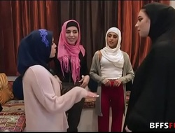 Muslim girls in HIJAB turtle-dove a BBC before association