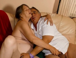 XXX OMAS - Naughty German granny enjoys hot hard lose one's heart to plus mouth creampie