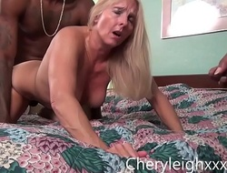MILF get Border Fucked by young Black bobtail while her husband is forced all over watch