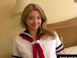 Creepy Asian Copulates Young Teacher Girl Sunny Lane!