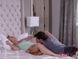 Hot MILF Natasha Starr Teaches Her Step Son Able-bodied Gets Him Off In the long run b for a long time His Hot Teen Girlfriend Bailey Brooke Is Sleeping