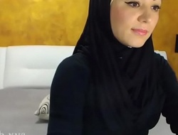 Arab hijab slut stripe  and masturbation heavens cam