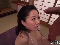 Busty japanese's explicit trio
