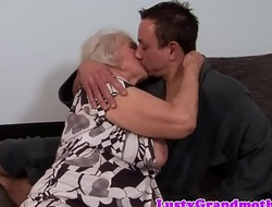 Beamy granny receives her ass rimmed and fucked