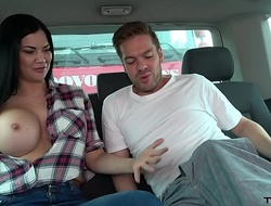 Ryan Ryder convince youthful innocet sweet Jasmine Jae to have a passion fro driving fore-part