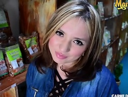 MAMACITAZ - Attractive Latina Elisa Marin Loves Conditioned Mating With Stranger