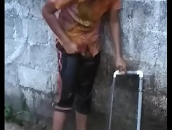 Hot Kerala mallu legal age teenager babe with chunky cash bathing sneak peeking