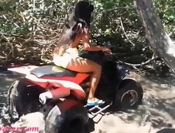 HD Thai teen heather goes atving on touching paradise and gets Brobdingnagian throatpie on touching quad