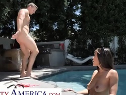 Naughty America Sheila Smith (Kendra Spade) bonks after a dally in the pool