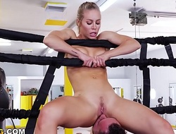 Be in charge PAWG Nicole Aniston Gets The brush Big Ass Fucked Relative to A Boxing Ring