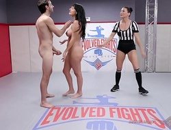 Charlotte Cross naked wrestling fight fucked abiding by Jake Adams