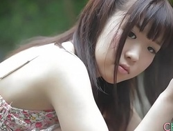 Shy Japanese teen angel arch time erotic outdoor ragging