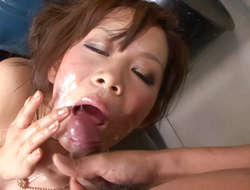 Kinky little Ren Mizumori is bound together with ball-gagged painless her big tits are caressed together with teased by a horny decide be useful to guys