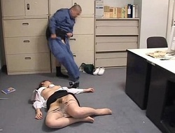 Businessgirl drilled by nasty janitor