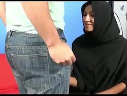 Muslim Hijab cooky jerks big white weasel words