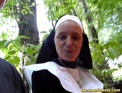 Crazy german nun likes 10-Pounder