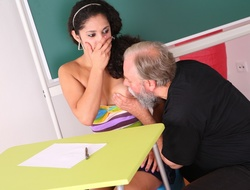 Lara tries to learn the study material with her tutor but realizes she needs to acquire extra help today.