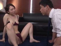 Astonishing Japanese lady prevalent sexy lingerie gets deeply screwed