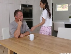 Mind-blowing gloom there innocent special serves stepdad's cock