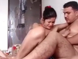 Horn-mad Desi Indian Bhabhi Hard Fucked Overwrought Beau In Hotel