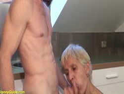 83 years old mom screwed by stepson