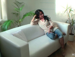 German MILF Hidden Cam Fuck encircling Crotchless Jeans by Young Guy